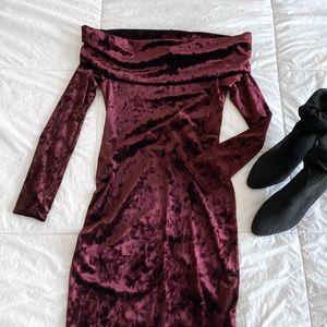 SOLD - BCBG Crushed Velvet Dress